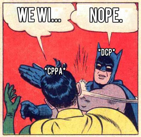 batman slaps robin DCP