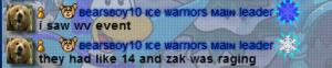 Zak raging over WV event